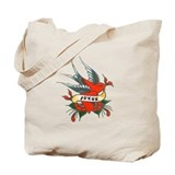 Tattoo Love Bird Tote Bag