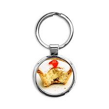 Tart with cherry Round Keychain