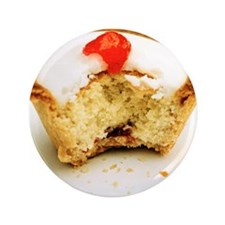"""Tart with cherry 3.5"""" Button"""