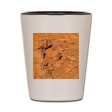 Toltecs, volcanic rocks, Mars Shot Glass