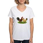 Nankin Bantams Women's V-Neck T-Shirt
