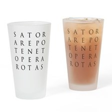 Sator Square Drinking Glass