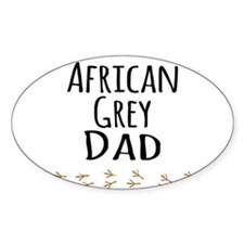 African Grey Dad Decal