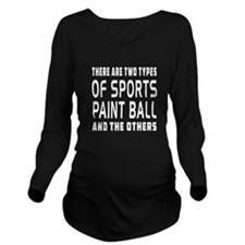 Paint Ball Designs Long Sleeve Maternity T-Shirt