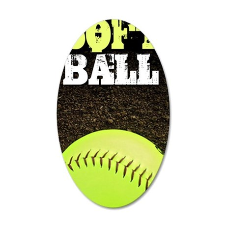 Softball 3G/3GS iPhone Case 35x21 Oval Wall Decal