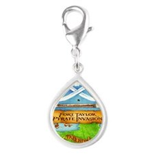 Fort Taylor Pyrate Invasion Silver Teardrop Charm