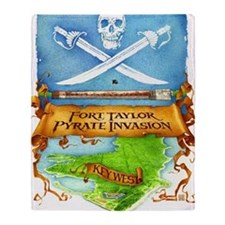 Fort Taylor Pyrate Invasion Throw Blanket