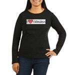 I Heart Chihuahuas Women's Long Sleeve Dark T-Shir