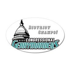 Congressional Gerrymanders 35x21 Oval Wall Decal