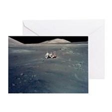 Apollo 17 astronauts Greeting Card