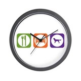Eat Sleep Munsterlander Wall Clock
