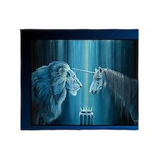 The Lion  The Unicorn Throw Blanket