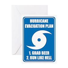 Hurricane Evacuation Plan Greeting Card