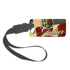 Guitar Guitarist Luggage Tag