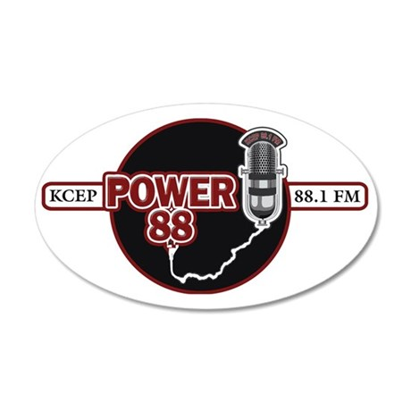 Power 88 300dpi color workin 35x21 Oval Wall Decal