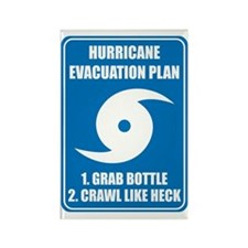 Hurricane Evacuation Plan for bab Rectangle Magnet