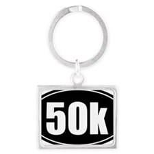 50k 31.1 black oval sticker dec Landscape Keychain
