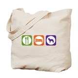 Eat Sleep Mudi Tote Bag