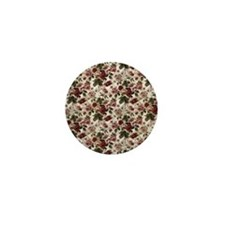 Tapestry Flowers Mini Button