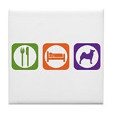 Eat Sleep Buhund Tile Coaster