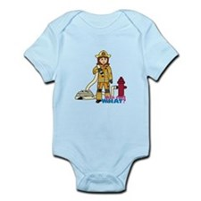 Firefighter Woman Infant Bodysuit