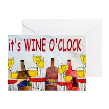 Its Wine OClock Greeting Card