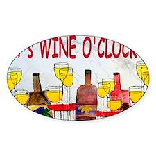 Its Wine OClock Decal