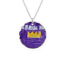 Her Royal Highness Necklace Circle Charm