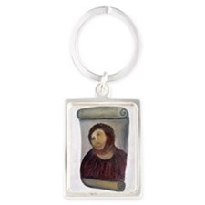 Jesus Fresco full Portrait Keychain