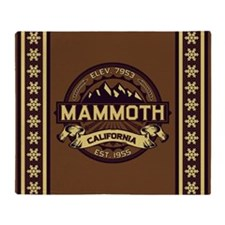 Mammoth Sepia Throw Blanket
