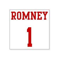 """Romney-Jersey-Back Square Sticker 3"""" x 3"""""""