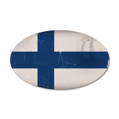 finlandflag 35x21 Oval Wall Decal
