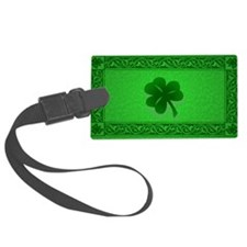 Irish Celtic Shamrock Luggage Tag