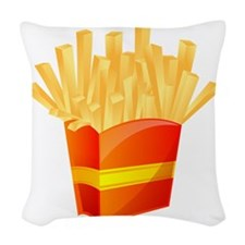 French Fries Woven Throw Pillow