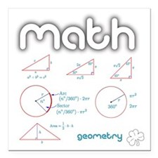 "Geometry Square Car Magnet 3"" x 3"""
