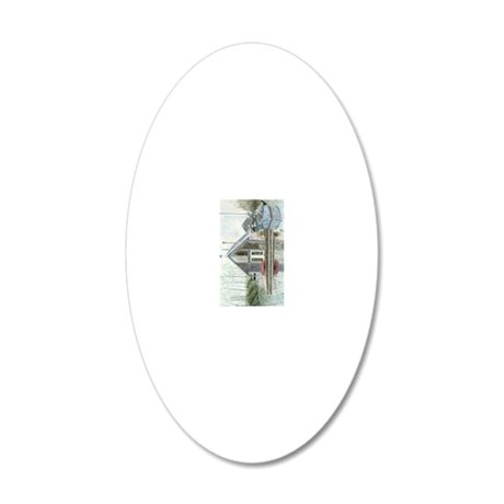 A Float 20x12 Oval Wall Decal