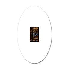 INSipadcase-b 20x12 Oval Wall Decal