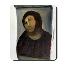 Jesus Fresco large Mousepad