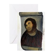 Jesus Fresco large Greeting Card