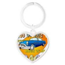 Rock N Roll Karaoke Heart Keychain
