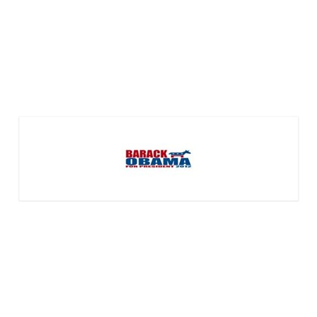 Obama for president 2012 36x11 Wall Decal