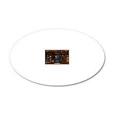 INSLaptopSkin 20x12 Oval Wall Decal