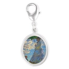 Monet Silver Oval Charm