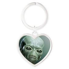 Secret UFO Videos Heart Keychain