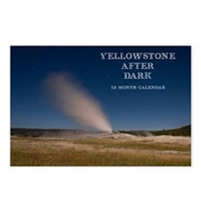 Yellowstone After Dark Ca Postcards (Package of 8)