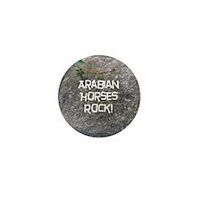 Arabian Horses Rock! Mini Button