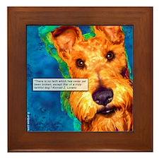 Dog Quote Framed Tile