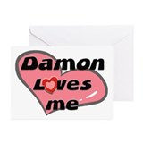 damon loves me  Greeting Cards (Pk of 10)