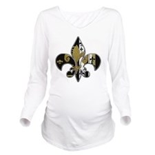 Fleur de lis bling b Long Sleeve Maternity T-Shirt