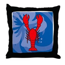 Lobster Shower Curtain Throw Pillow